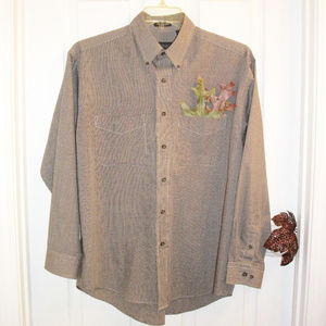 VAN HEUSEN Button Down Shirt Wrinkle Free 15-15.5